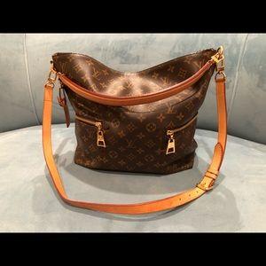 Louis Vuitton Melie brown canvas shoulder bag